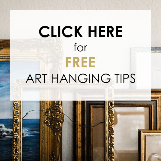 Click here for free art hanging tips